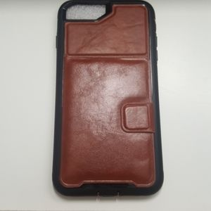"""Case card holder for iphone 7/8 plus 5.5"""" brown"""